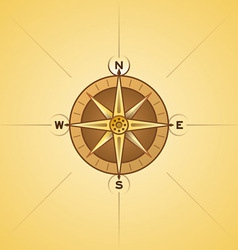 nautical rose compass vector image