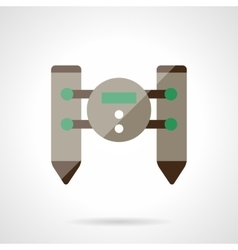 Unmanned robot flat color design icon vector