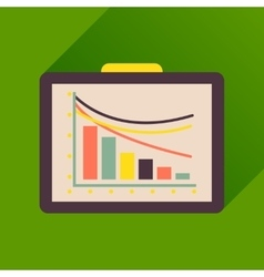 Flat icon with long shadow business presentation vector