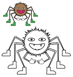 Color by example spider vector