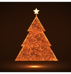 Abstract Christmas tree Eps vector image vector image