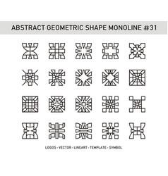 Abstract geometric shape monoline 31 vector