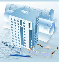 Architecture Plans vector image