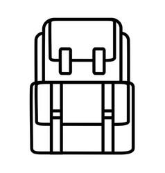 backback outline icon vector image
