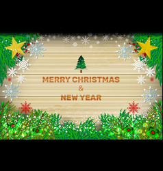background wood christmas vector image
