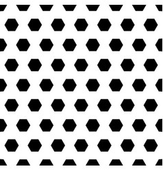 Black hexagons monochrome seamless pattern vector