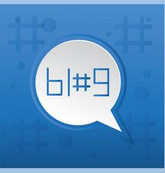 Blog trending post concept vector