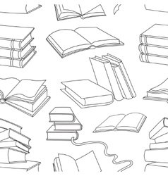 Books pattern isolated on white background vector