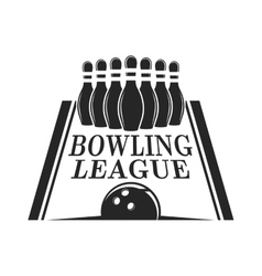 bowling emblem logo badge vector image vector image
