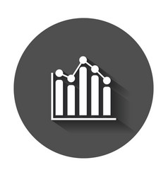 business graph icon chart flat with long shadow vector image
