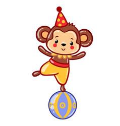 circus monkey vector image
