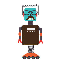 cute robot electronic character vector image