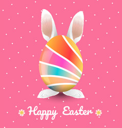 Easter with polka dot background vector