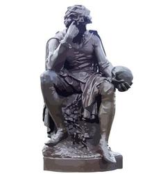 Hamlet statue vector