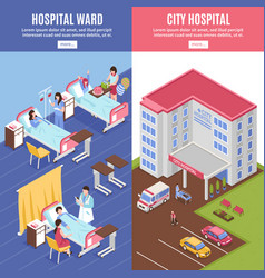 Hospital vertical banners set vector