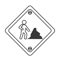 Men at work traffic sign icon vector
