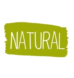 Natural hand drawn isolated label vector