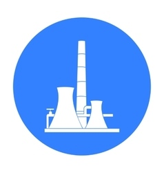 Oil refinery factory icon in black style isolated vector image