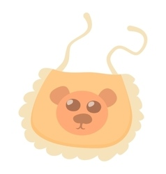 Orange baby bib icon cartoon style vector