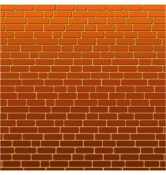 Painted background orange brick wall vector