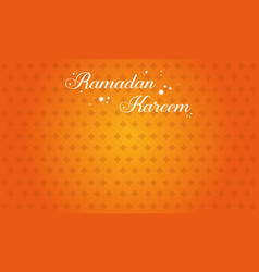 Ramadan kareem greeting card style vector