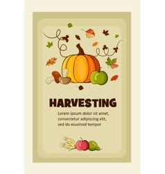 Rich Harvest flat banners set vector image