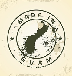 Stamp with map of guam vector