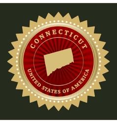 Star label connecticut vector