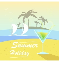 summer background with holiday elements vector image vector image