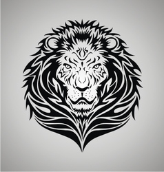 Tribal lion face vector