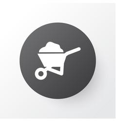 Wheelbarrow icon symbol premium quality isolated vector