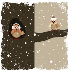 winter theme vector image