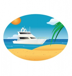 yacht ocean vector image vector image