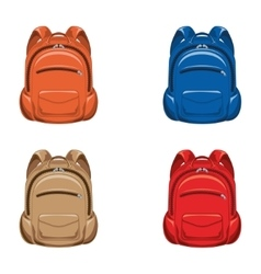Set backpack vector