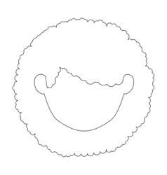 Isolated girl head design vector