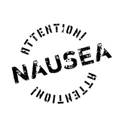 Nausea rubber stamp vector