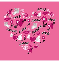 Love symbols heart shape vector