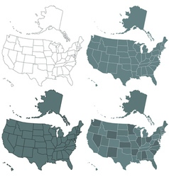 Usa map set vector