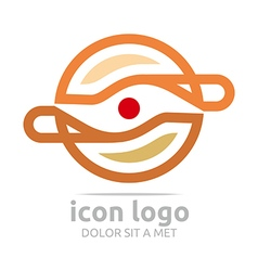 Logo icon circle design symbol abstract vector