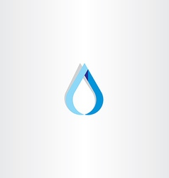 Drop of water blue logo sign vector