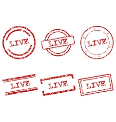 Live stamps vector