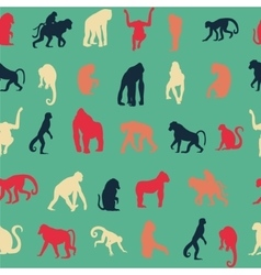 Seamless pattern background with monkeys vector image