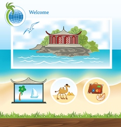 Template for travel site vector