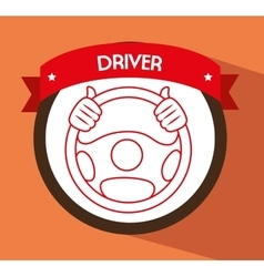 Driver car design vector