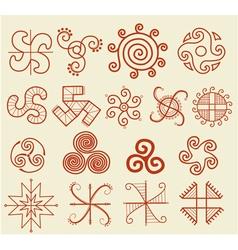 Ethnic tribal native sun symbol vector