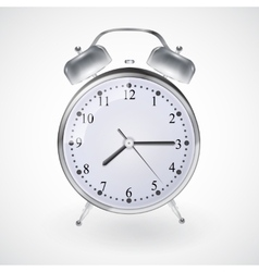 Metal alarm clock vector