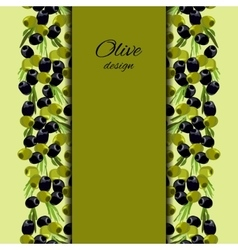 olives design background vector image