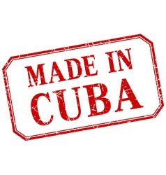 Cuba - made in red vintage isolated label vector