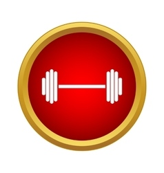 Barbell icon in simple style vector