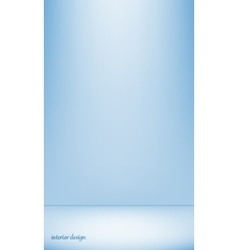 Blue studio backdrop interior vector